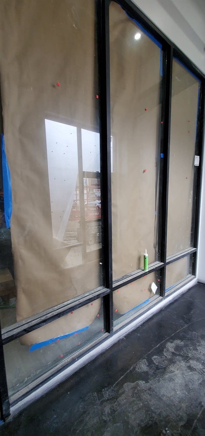 Construction cleaning for windows